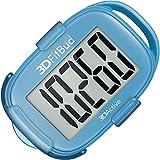Podómetro 3DFitBud con cordón y clip, contador de pasos, A420S, Azul con clip